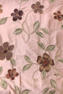 Embroidered Silk Shantung0