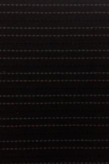 Japanese Cotton Woven Stripe Novelty in Espresso0