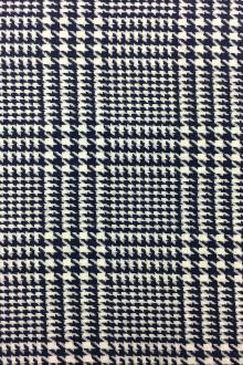 Italian Lambswool Glen Check in White and Blue 0