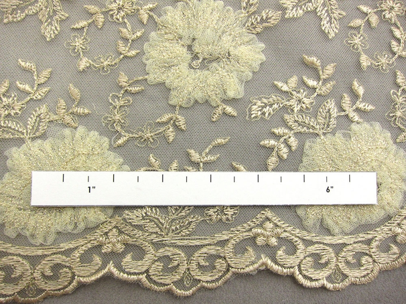 Floral Metallic Embroidered Tulle2