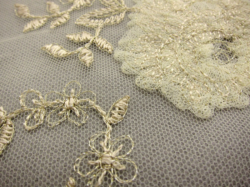 Floral Metallic Embroidered Tulle1