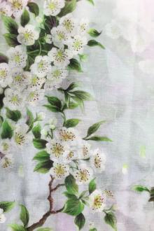 Linen and Silk Birds and Flowers Print0