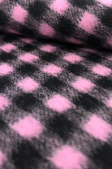 f81cce5eab0 Italian Wool Check Coating in Pink
