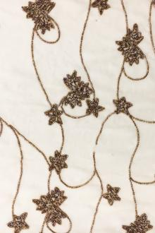 36382c4e035a REDUCED Floral Beaded Silk Chiffon with Bugle Beads