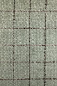 b02c0e529511 Italian Silk Linen Wool Blend Window Pane in Sage
