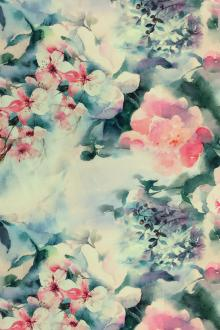 Linen With Floral Digital Print0