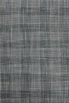 Fine Bamboo Plaid Suiting in Grey and Blue0