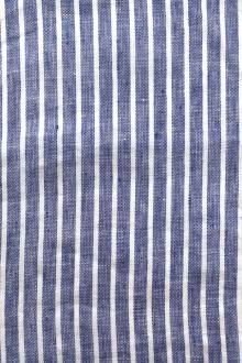 Linen Handkerchief Woven Stripe in Royal0