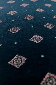 Japanese Printed Poplin Cotton with Diamonds and Dots0