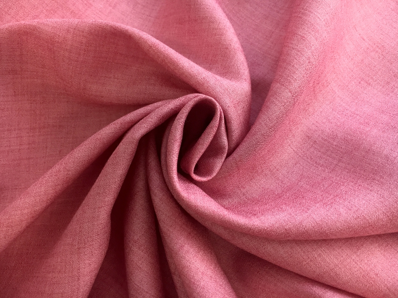 Spanish Viscose and Wool Crepe Challis in Carnation1